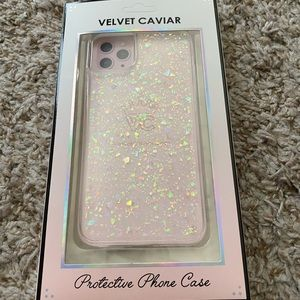 Velvet Caviar iPhone 11 Pro Max opal flakes case
